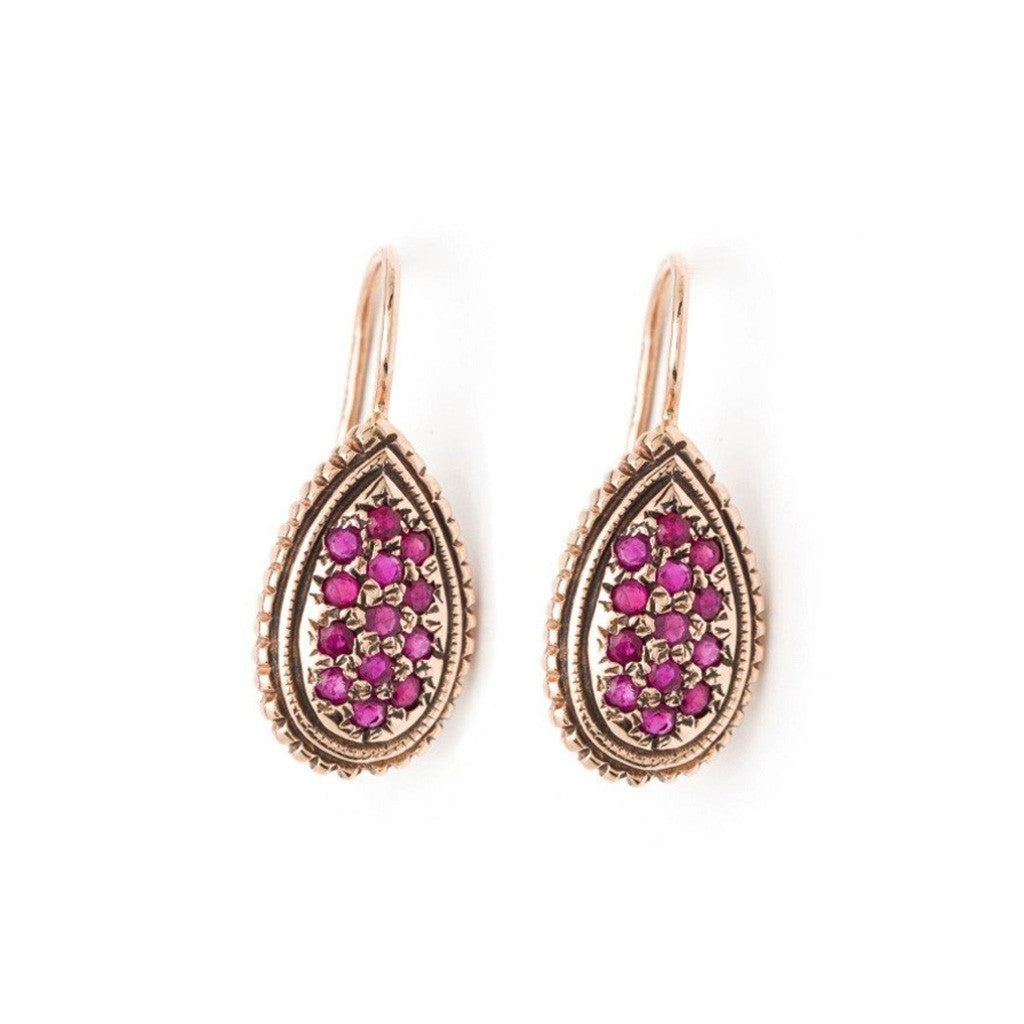 Raindrop Earrings - Ruby