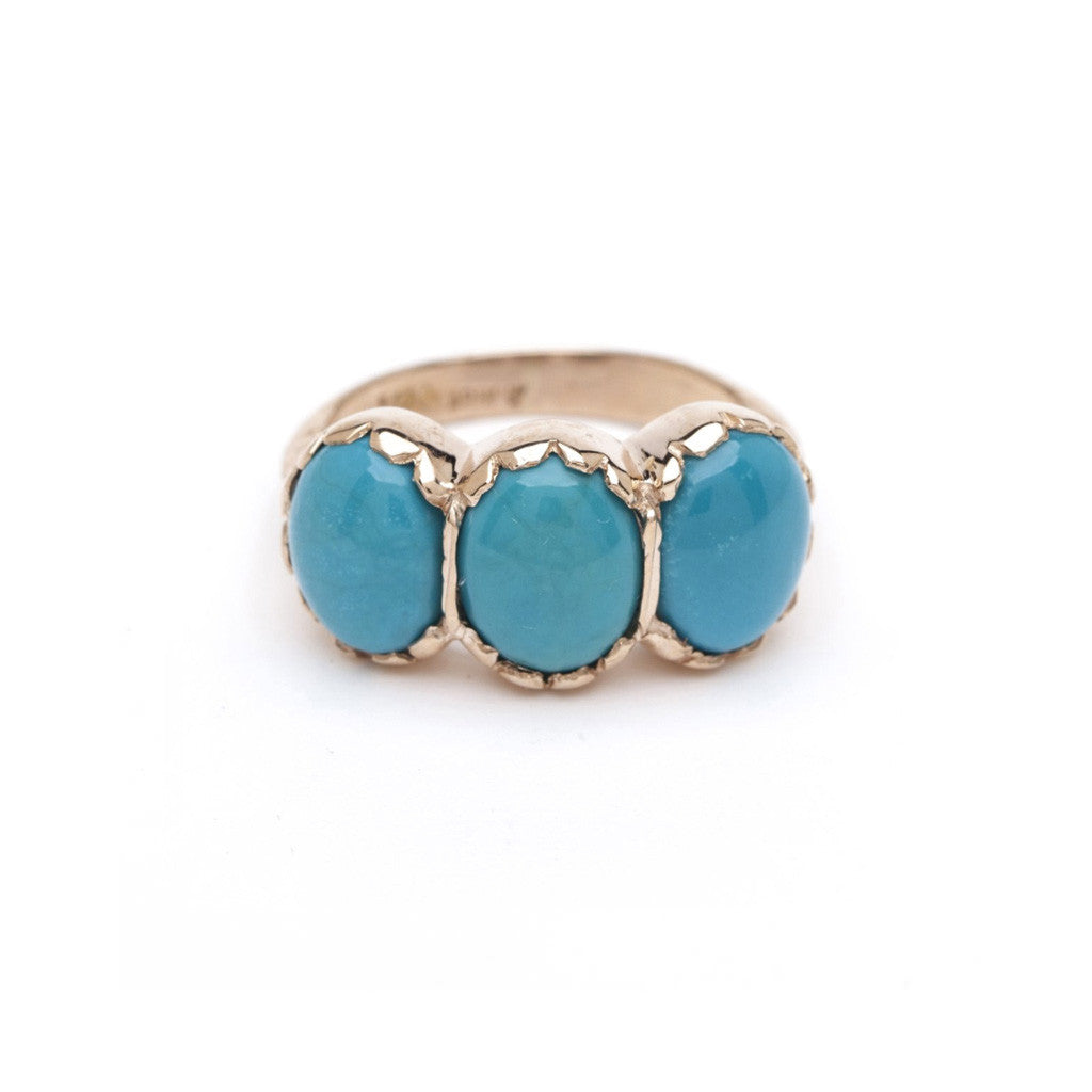 Signature Three-Stone Ring - Turquoise