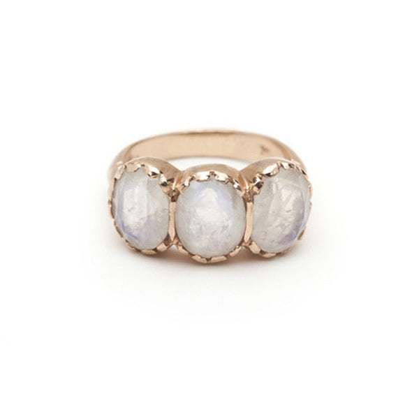 Signature Three-Stone Ring - Moonstone