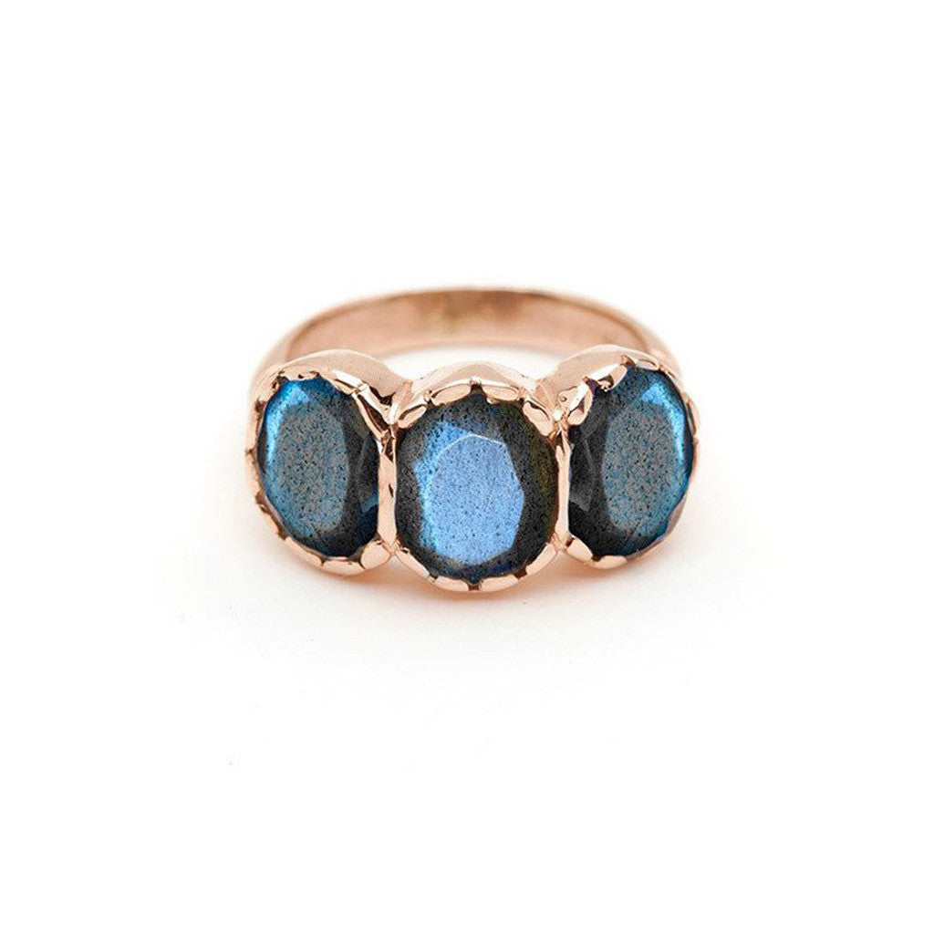 Signature Three-Stone Ring - Labradorite