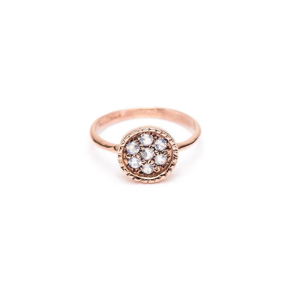 Framed Flower Ring - Moonstone
