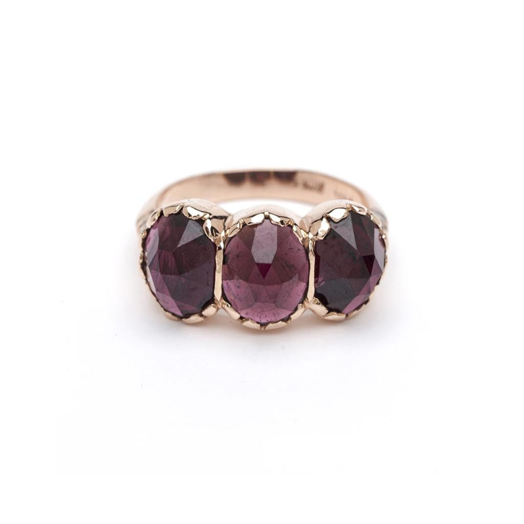 Signature Three-Stone Ring - Garnet