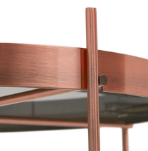 Load image into Gallery viewer, Collection of coffee tables in black, chrome or copper finish. Copper table on picture 2 & 4 = 83 cm x 35 cm