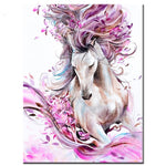 Pink Purple Horse Diamond Painting Kit - DIY