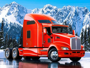 Red Truck Ice Diamond Painting Kit - DIY