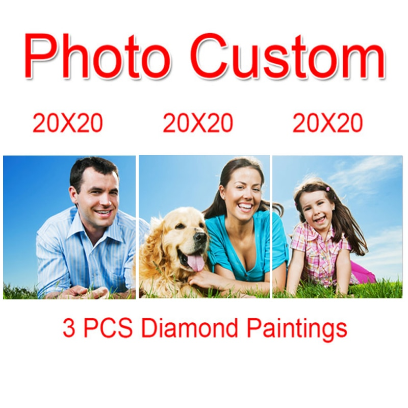 3 Panel Custom Diamond Painting Kit - DIY