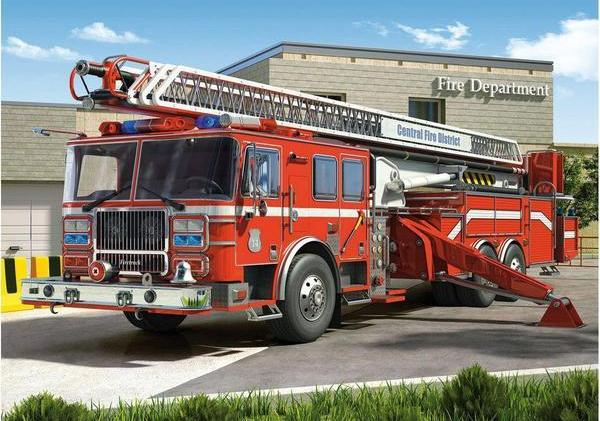 Fire Truck Red Diamond Painting Kit - DIY