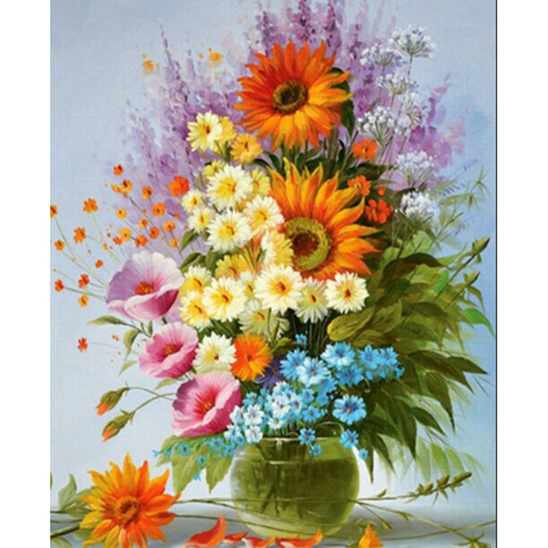 All kinds Of Flowers Diamond Painting Kit - DIY