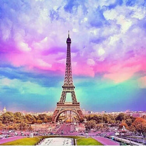 Rainbow Eiffel's Tower Diamond Painting Kit - DIY