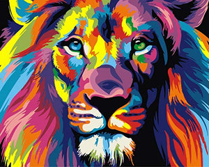 Lion Colors Full Diamond Painting Kit - DIY