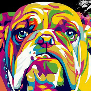 Bulldog Colors Diamond Painting Kit - DIY