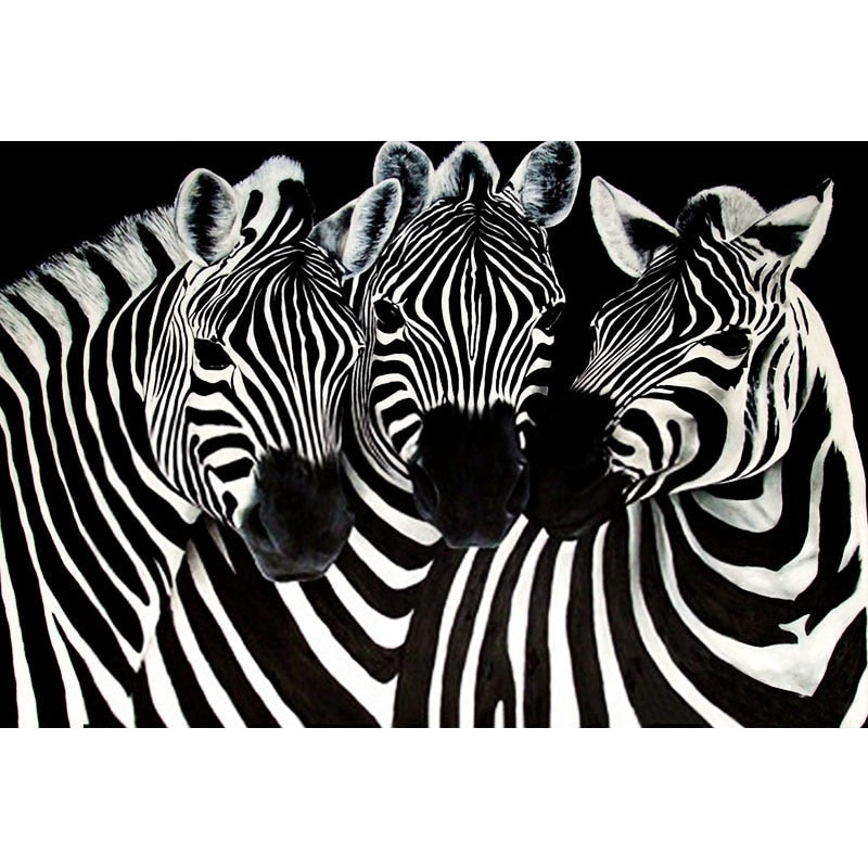 Animal Zebra Diamond Painting Kit - DIY