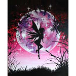 Moon Night Butterfly Fair Diamond Painting Kit - DIY