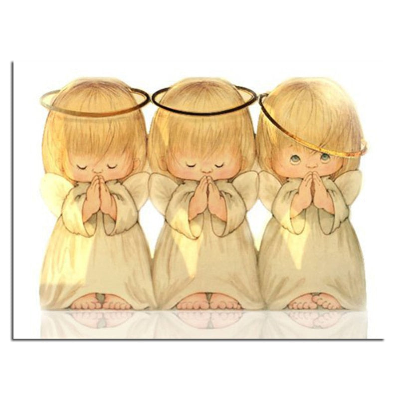 Three cute angels Diamond Painting Kit - DIY