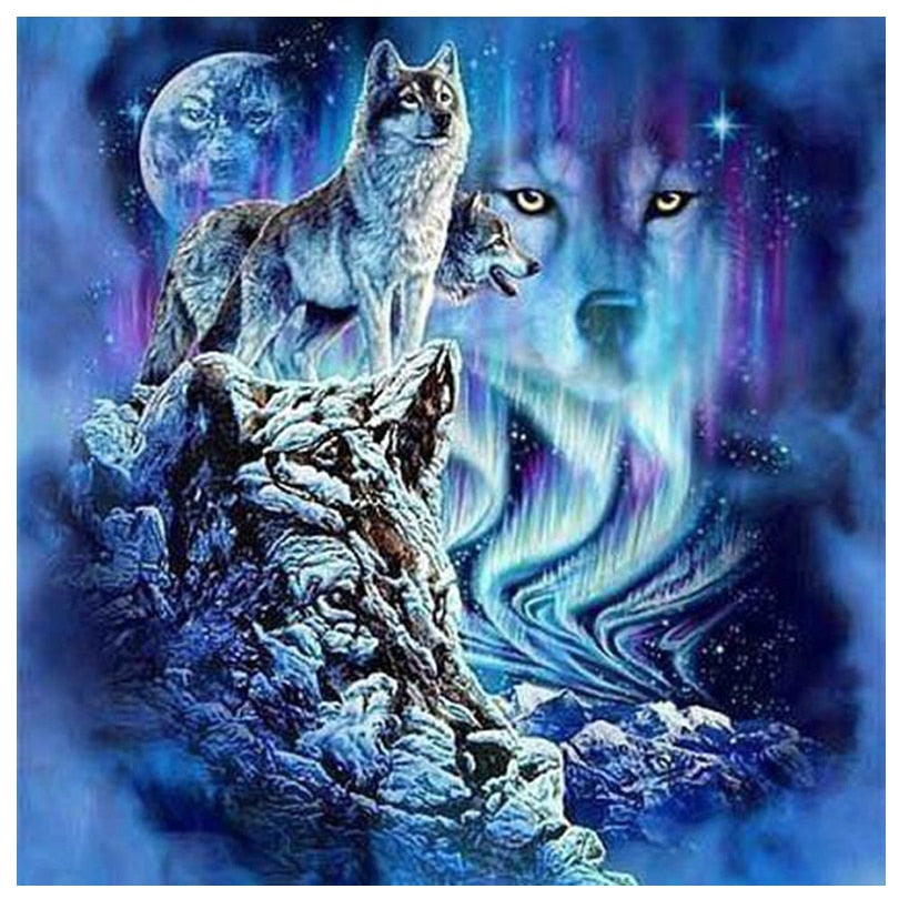 Wolf Diamond Painting Kit - DIY