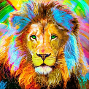 Lion Full All Colors Different  Diamond Painting Kit - DIY