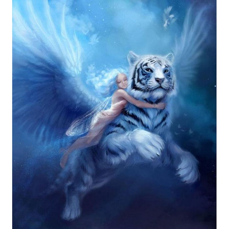 Angels And Tigers Diamond Painting Kit - DIY