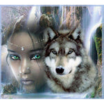 Beauty And Wolf Diamond Painting Kit - DIY