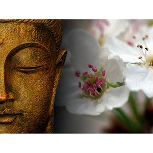 Buddha And Flowers Diamond Painting Kit - DIY