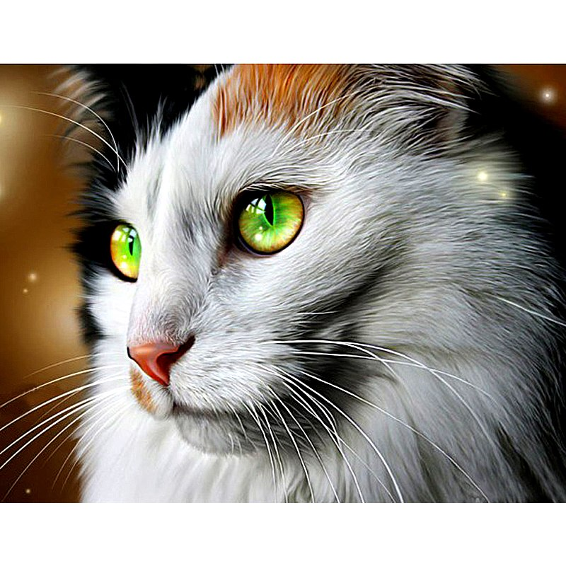 Melancholy Cat Diamond Painting Kit - DIY