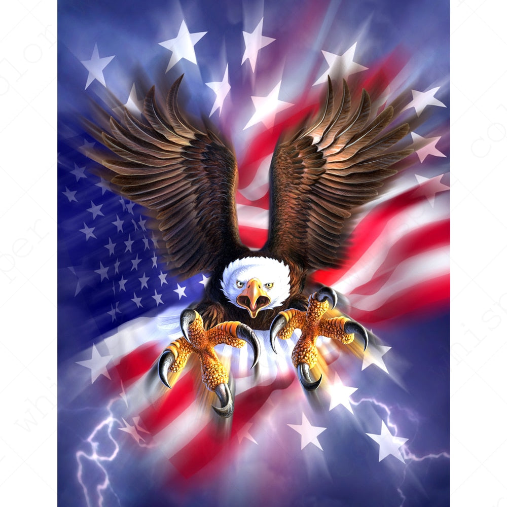 Eagle American Flag Diamond Painting Kit - DIY