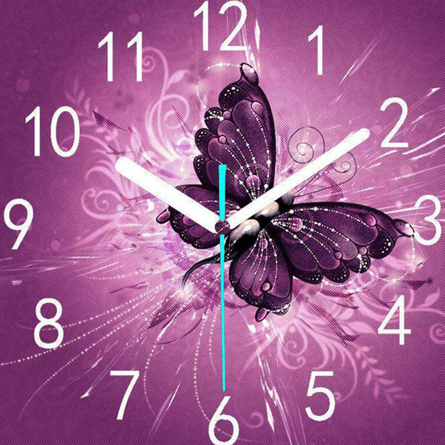 Clock Butterfly Diamond Painting Kit - DIY