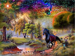 Black Horse Diamond Painting Kit - DIY