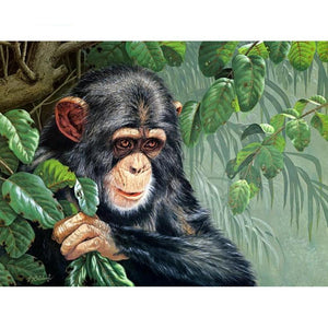 Gorilla Baby Diamond Painting Kit - DIY