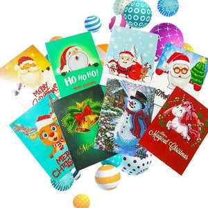 Christmas Cards 12xPack Diamond Painting Kit - DIY