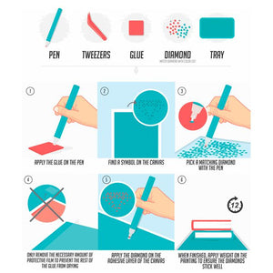 Baseball Glove Diamond Painting Kit - DIY