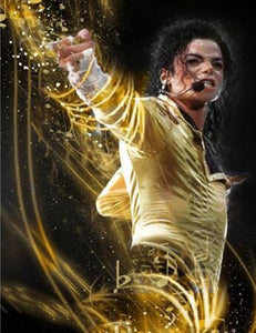 Michael Jackson Gold Diamond Painting Kit - DIY