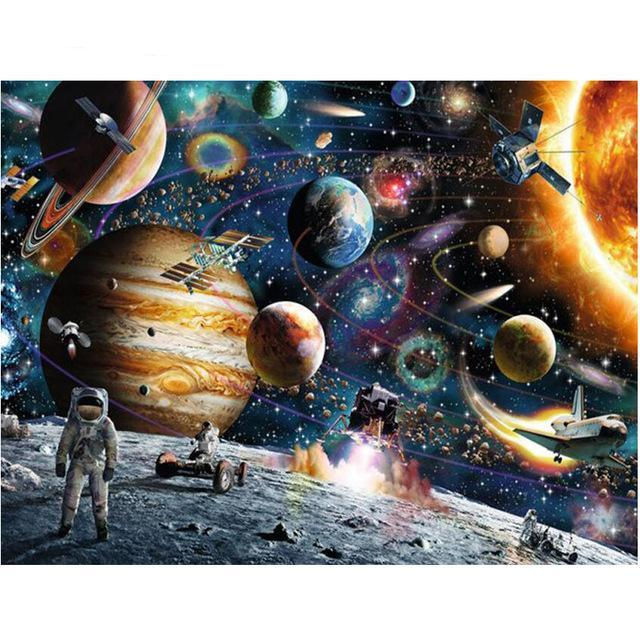 Space Planet Stars Diamond Painting Kit - DIY