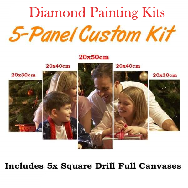 5 Pcs Custom Diamond Painting Kit - DIY