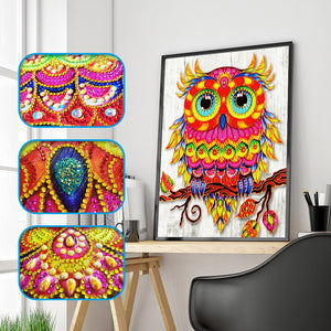 Special Shaped  Owl Flower Diamond Painting Kit - DIY
