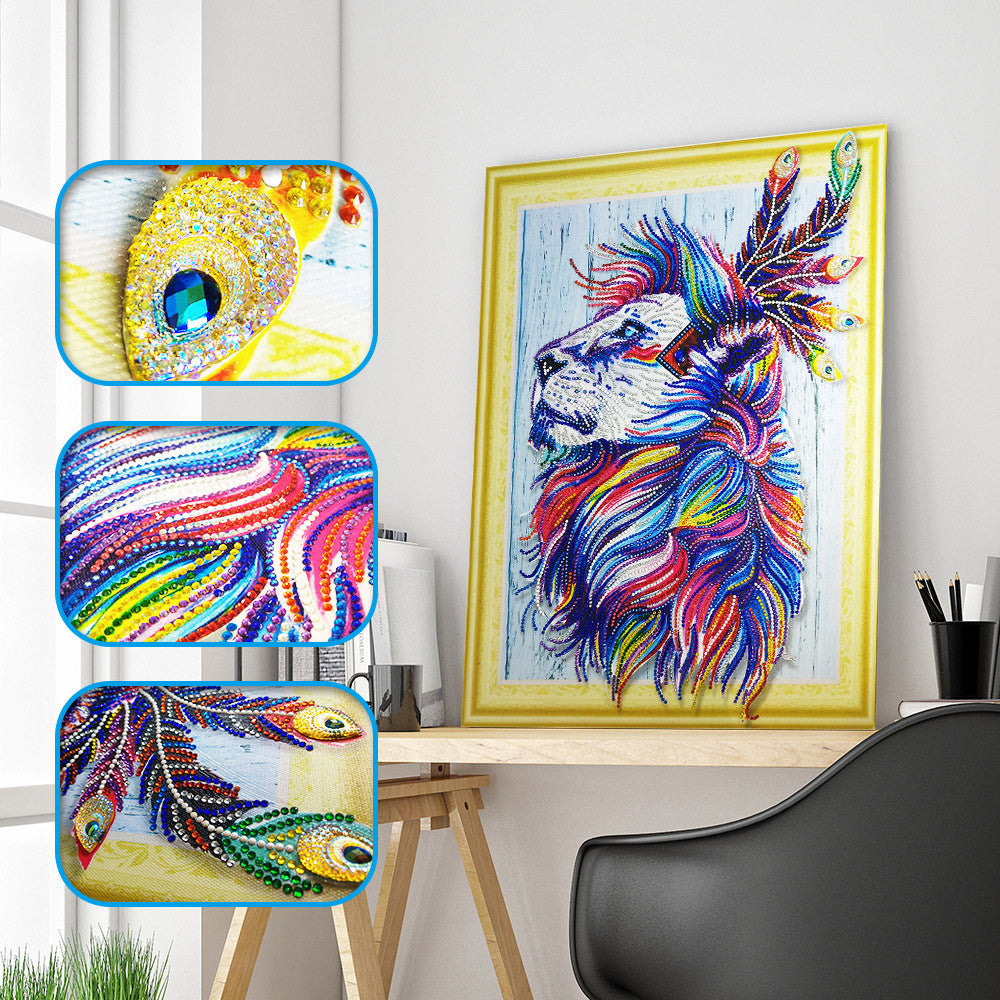 Lion Special Shaped Diamond Painting Kit - DIY