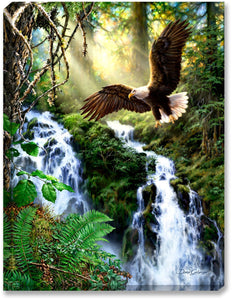 Landscape Eagle Waterfall Diamond Painting Kit - DIY