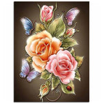 Flowers Butterfly Rose Resin Diamond Painting Kit - DIY