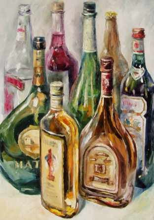 Bottles Diamond Painting Kit - DIY