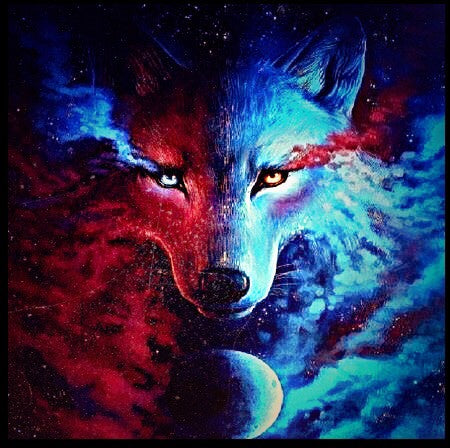 Wolf Special Colors Diamond Painting Kit - DIY