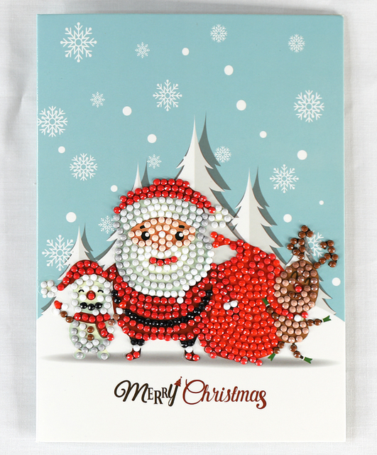 Reindeer Card Diamond Painting Kit - DIY