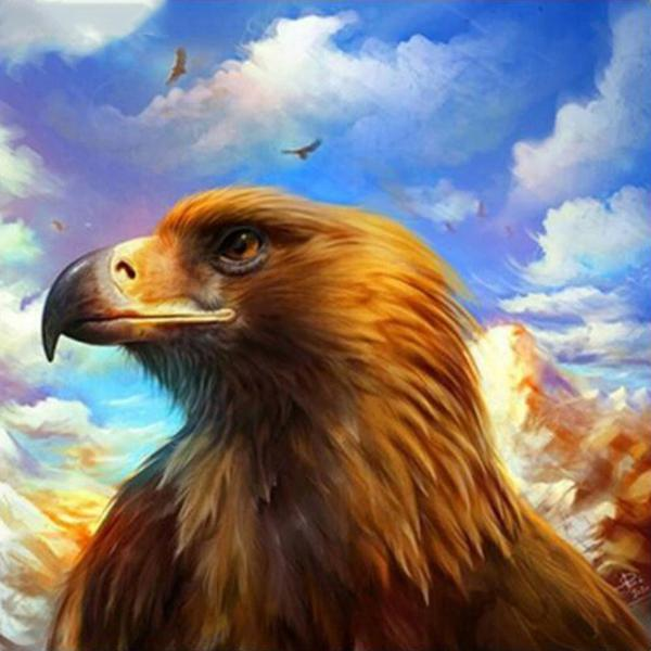 Brown Eagle Diamond Painting Kit - DIY