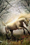 Horses White Bright Diamond Painting Kit - DIY