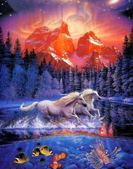 Horses Fish Diamond Painting Kit - DIY