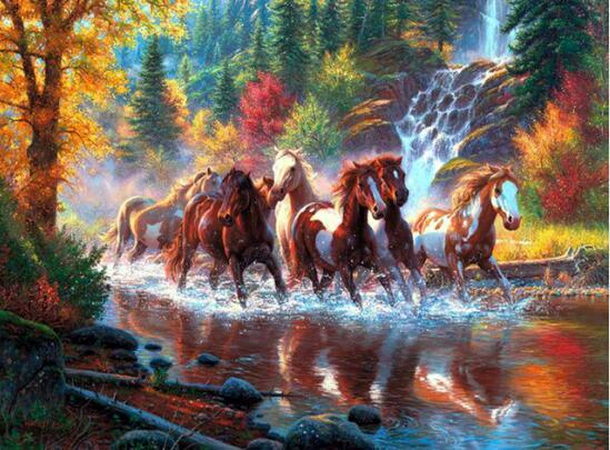 Horses Run Free Diamond Painting Kit - DIY