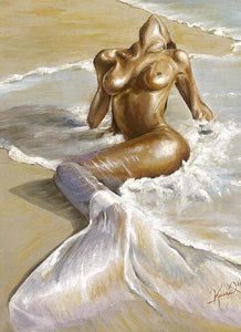 Mermaid Of Sand Diamond Painting Kit - DIY
