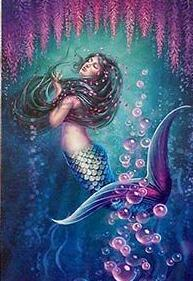 Mermaid Blue Diamond Painting Kit - DIY