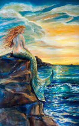 Mermaid Sunset Diamond Painting Kit - DIY
