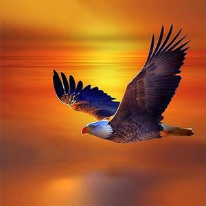 Eagle Orange Sunset Diamond Painting Kit - DIY