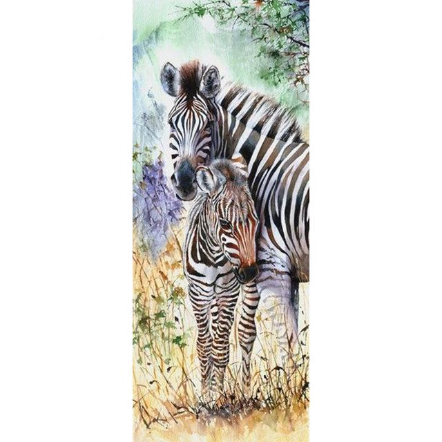 Animal Kingdom Lions Tigers Zebra And Giraffes Diamond Painting Kit - DIY