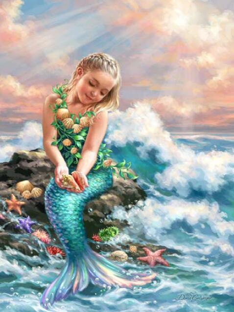 Little Mermaid Diamond Painting Kit - DIY